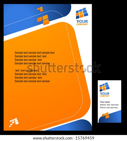 Corporate template background - set 4