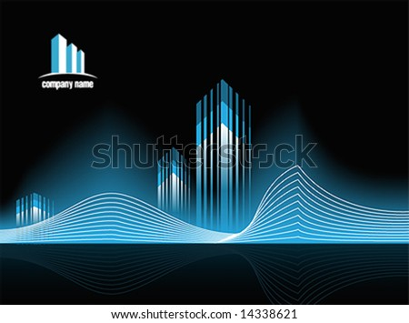 Corporate Vector Business Real Estate Template Background with Logo (others elements of this template are in my portfolio)