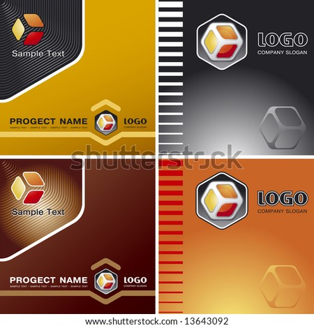 Corporate Vector Business Template Background with Logo (others elements of this template are in my portfolio)