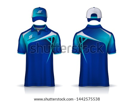Corporate Work Shirts,t-shirt and cap templates design. uniform for company.
