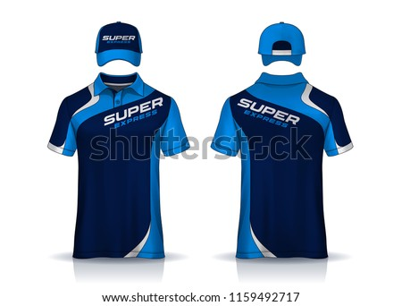 Corporate Work Shirts,t-shirt polo and cap templates design. uniform for company.