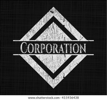 Corporation chalk emblem