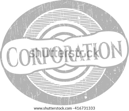 Corporation rubber grunge stamp