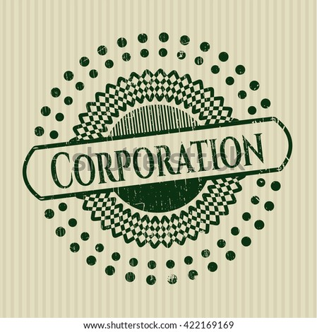 Corporation rubber grunge texture stamp