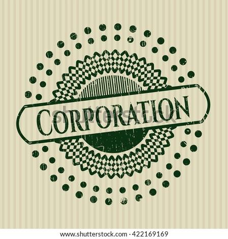 Corporation rubber grunge texture stamp