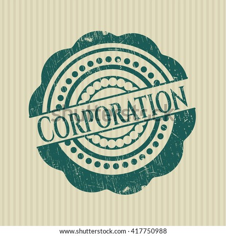 Corporation rubber stamp
