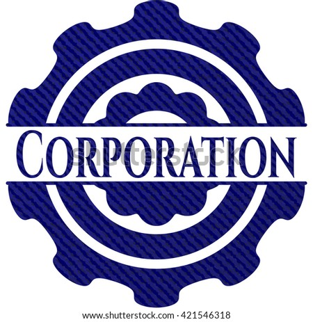 Corporation with jean texture
