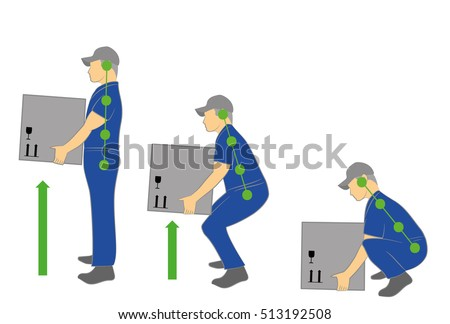 correct posture to lift a heavy ...