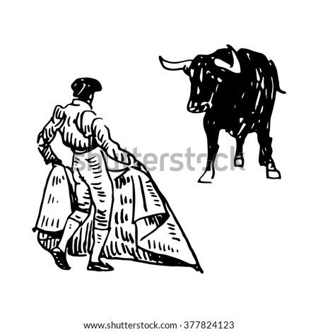 matador bull drawing Gallery