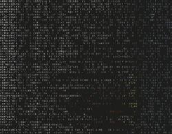 Corrupted source code. Modern vector illustration about computer security. Abstract ascii glitch background. Fatal programming error. Buffer overflow problem. Random signal error. Element of design.