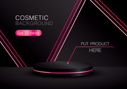 cosmetic background with podium for your product.