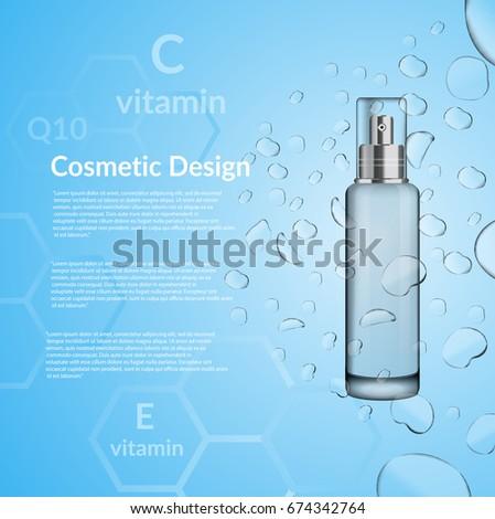 Cosmetic bottle water design vector eps 10 design #674342764