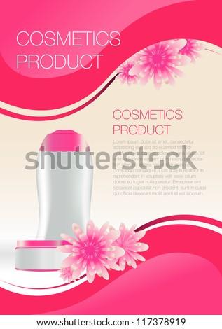Cosmetic flyer - stock vector