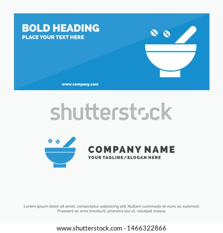 Cosmetic Herbs, Herbs, Medicinal Herbs, Natural, Organic, Plants SOlid Icon Website Banner and Business Logo Template. Vector Icon Template background