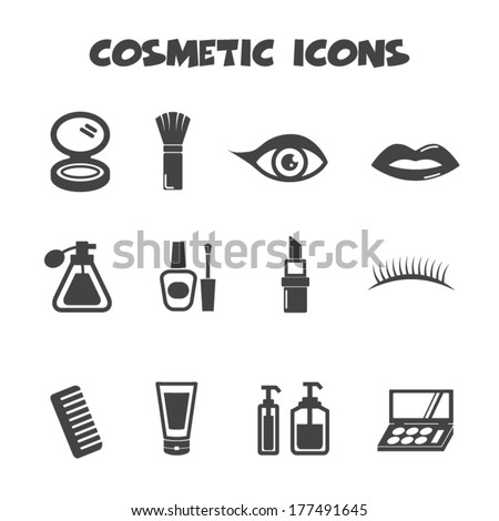 cosmetic icons  vector symbols