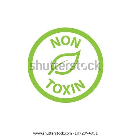 cosmetic non toxin icon vector template