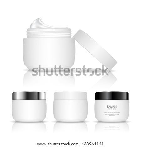 cosmetic plastic jar isolated