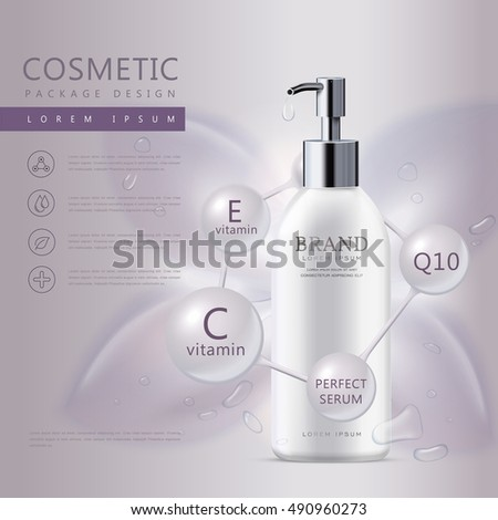 cosmetic product poster  white