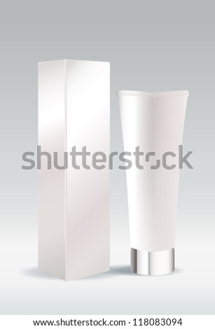 Cosmetic tube package for cream or gel
