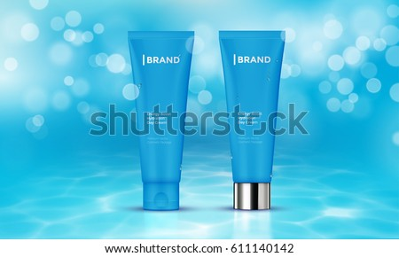 cosmetic tube with moisturizing
