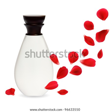 cosmetics container isolated