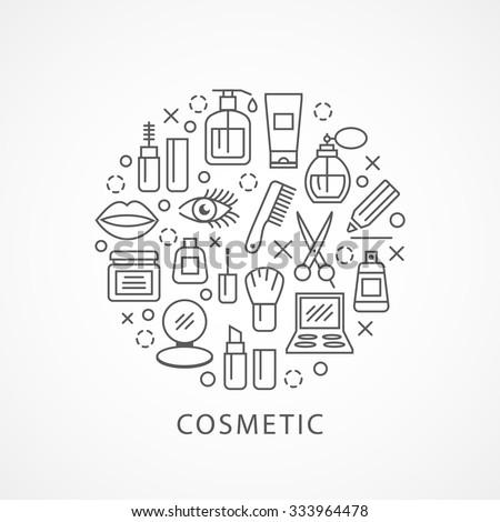 cosmetics illustration with