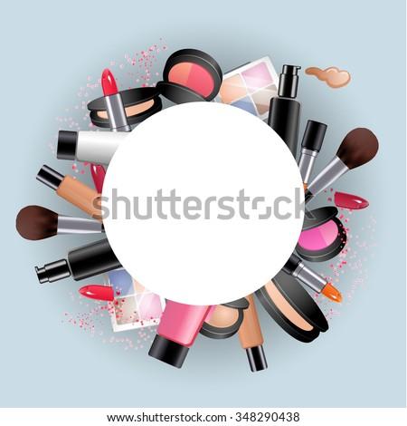 cosmetics round decorative