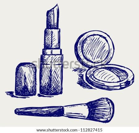 Cosmetics set, for fashion design