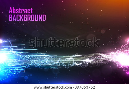 cosmic abstract background with