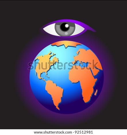 cosmic eye and earth