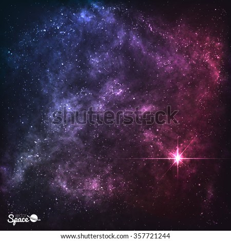 cosmic galaxy background with