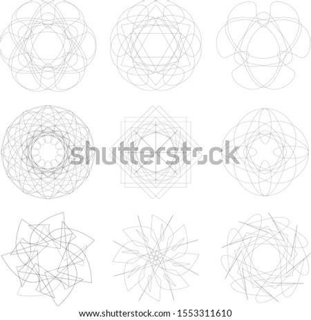 Cosmic geometry astrological star pattern symbols pentagram runes