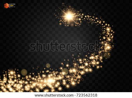 cosmic glittering wave gold