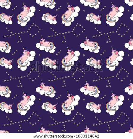 cosmic seamless pattern with a