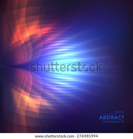cosmic shining vector abstract