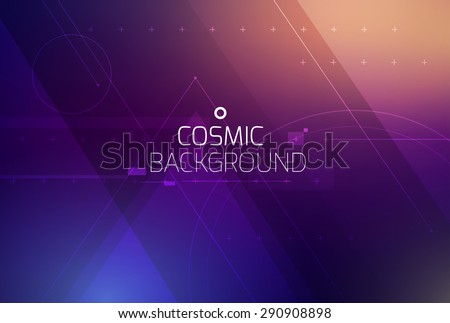 cosmic shining vector abstract