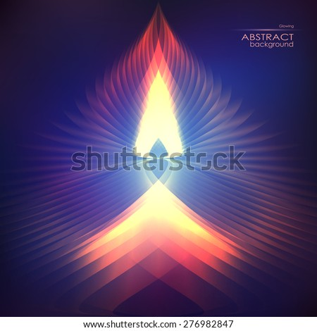 Stock Photo Cosmic shining vector fire abstract background