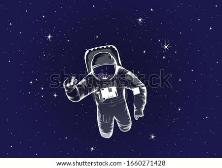 cosmonaut in spacesuit