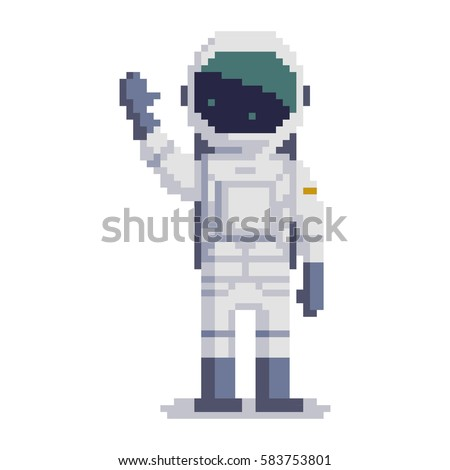 cosmonaut isolated on white