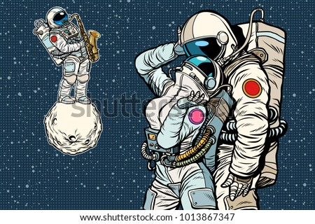 cosmonauts are dancing