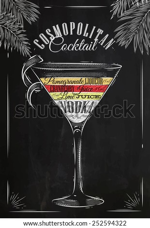 cosmopolitan cocktail in