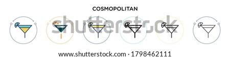cosmopolitan icon in filled
