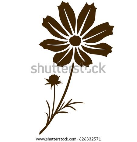 cosmos flower silhouette