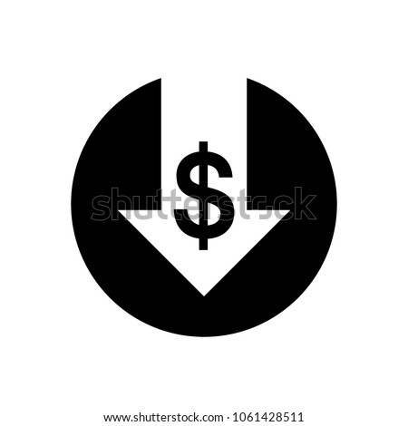 Cost reduction icon. Vector image isolated on white background