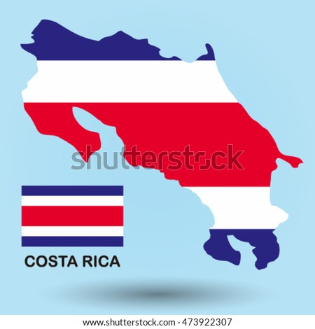 Costa Rica flag map