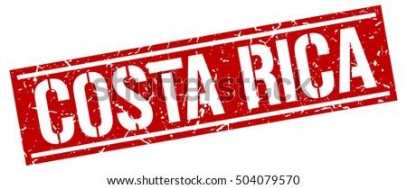 Costa Rica. Grunge vintage Costa Rica square stamp. Costa Rica stamp.