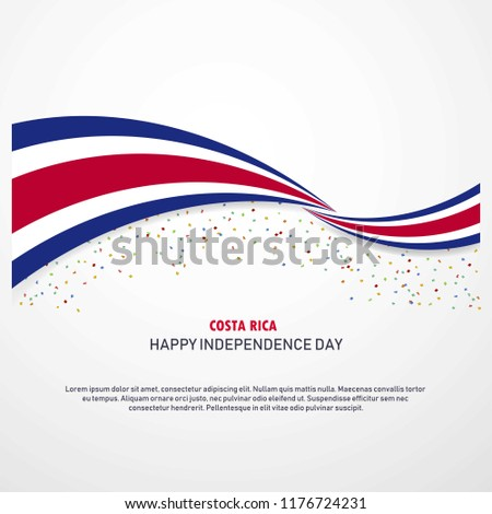 Costa Rica Happy independence day Background