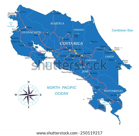 Free vector map of costa rica free vector art at vecteezy costa rica map gumiabroncs Image collections