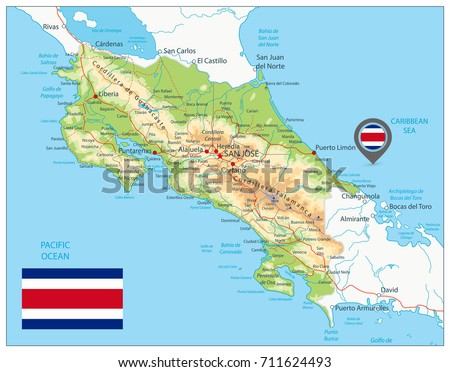 Free vector map of costa rica free vector art at vecteezy costa rica physical map detailed vector map of costa rica with shaded relief map gumiabroncs Gallery