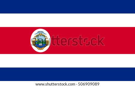 Shutterstock Costa Rican national official flag. Patriotic symbol, banner, element, background. Accurate dimensions. Flag of Costa Rica in correct size and colors, vector illustration